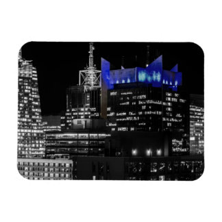 New York City Night Skyline Rectangle Magnets