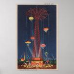 New York City, NY - Parachute Jump at World's Print