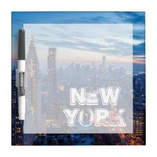 New York City, NY, USA Dry Erase Board