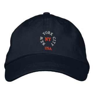 NEW YORK CITY, NY USA EMBROIDERED HAT
