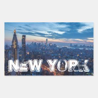 New York City, NY, USA Rectangular Sticker