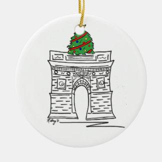 New York City NYC Christmas Washington Square Tree Christmas Ornament