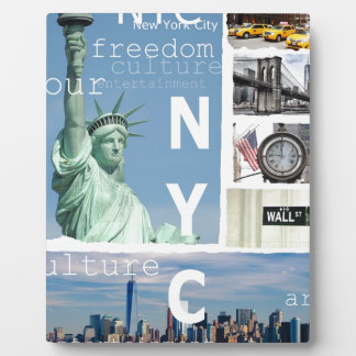 New York City Nyc Display Plaques