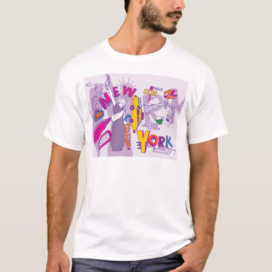 New York City NYC ~ Famous Tourist Sights T-Shirt