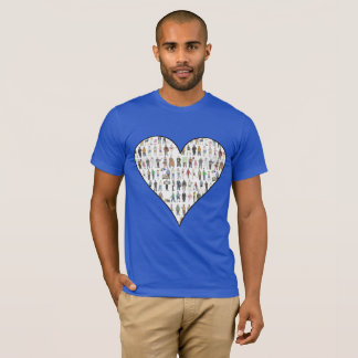 New York City NYC Five Boroughs Heart People Tee