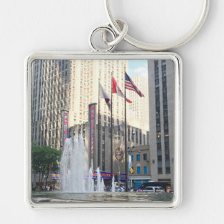 New York City NYC Fountain Sixth Avenue Photograph Key Ring
