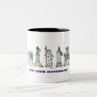 New York City NYC Happy Hanukkah Chanukah Mug