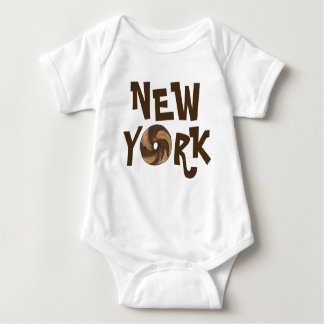 New York City NYC Marble Rye Bagel Bagels Foodie Baby Bodysuit