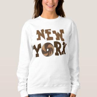 New York City NYC Marble Rye Bagel Sweatshirt