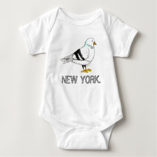New York City NYC Pigeon Bird Baby Bodysuit