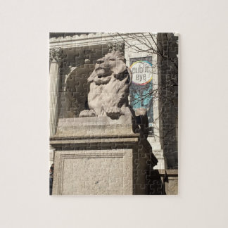 New York City NYC Public Library Lion Statue Jigsaw Puzzle