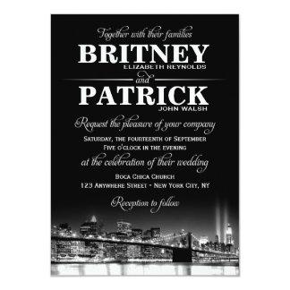 "New York City NYC Skyline Wedding Invitations 4.5"" X 6.25"" Invitation Card"