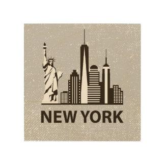 New York City   NYC Skyline Wood Print