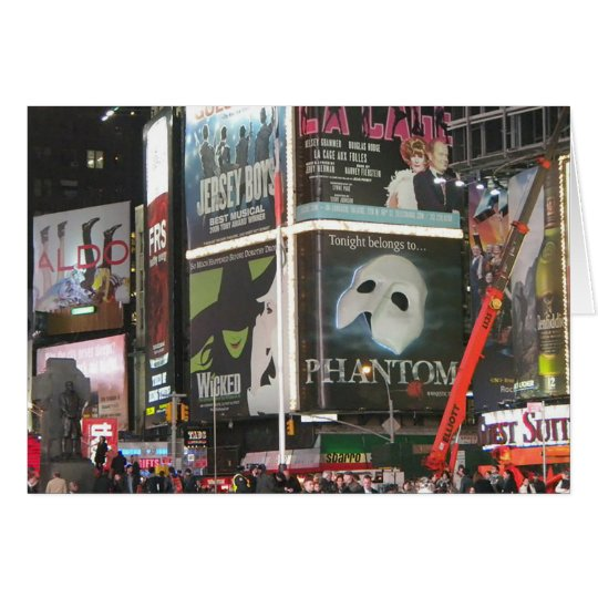 New York City NYC Times Square Blank Card