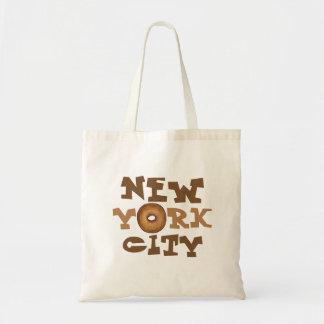 New York City NYC Trip Plain Bagel Tote Bag