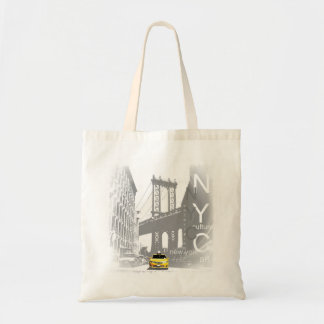 New York City Nyc Yellow Taxi Brooklyn Bridge Tote Bag