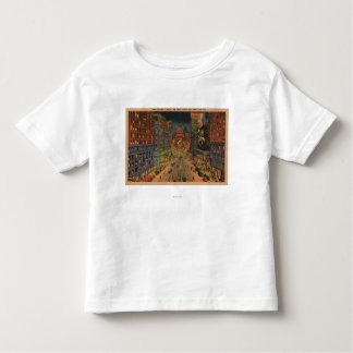 New York City, NYNight View of Times Square Toddler T-Shirt