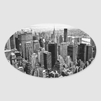 New York City Oval Sticker