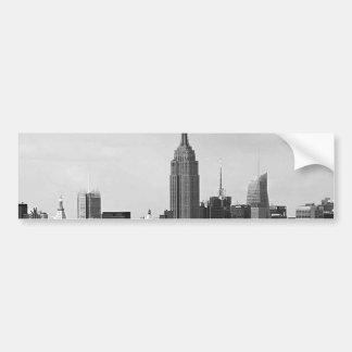 New York City Panorama Bumper Sticker