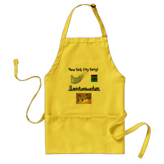 New York City Party Adult Apron