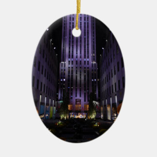 New York City Photography Channel Gardens NYC Christmas Ornament