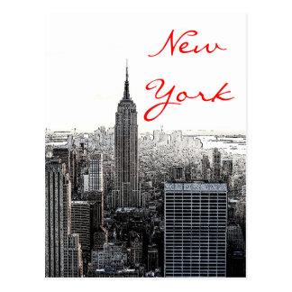 New York City Pop Art Script Postcard