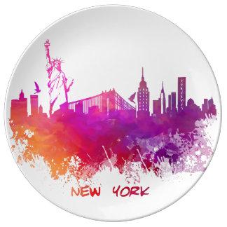 New York City Porcelain Plates