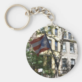 New York City Puerto Rican Flag Upper West Side NY Key Ring