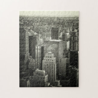 New York City Puzzle - Black and White