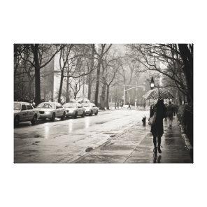New York City - Rainy Day in Greenwich Village Canvas Print
