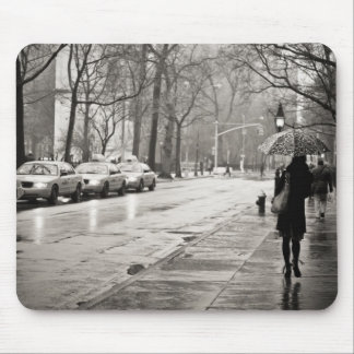 New York City - Rainy Day in Greenwich Village Mouse Mat