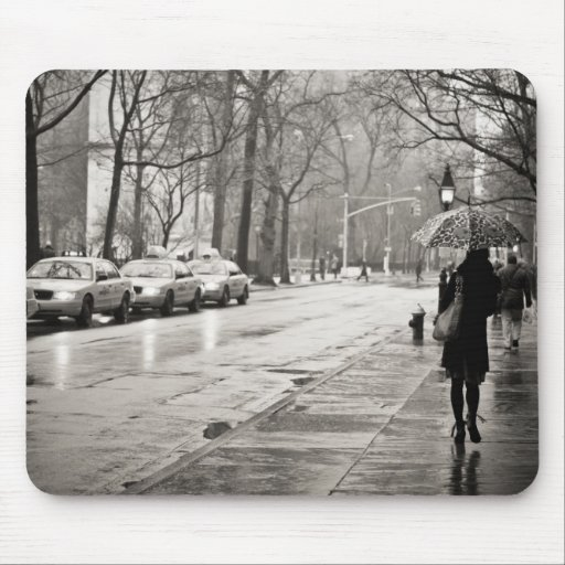 New York City - Rainy Day in Greenwich Village Mouse Pads