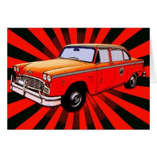 New York City Retro Taxi Cab Card