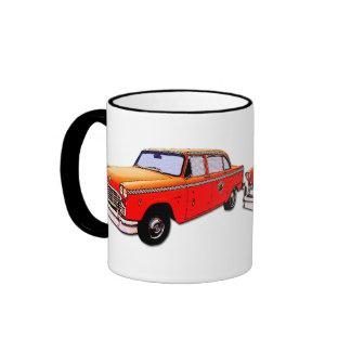 New York City Retro Taxi Cab Ringer Mug