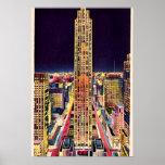 New York City Rockefeller Centre at Night 1940