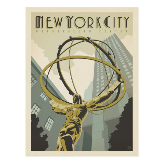 New York City | Rockefeller Centre Postcard