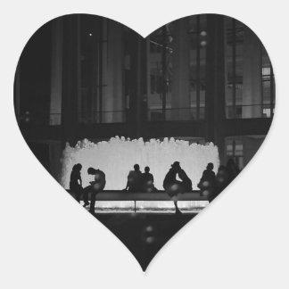 New York City Romance Heart Sticker