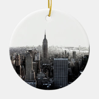 New York City Round Ceramic Decoration
