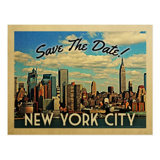New York City Save The Date Vintage NYC