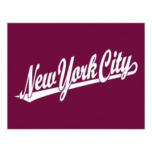 New York City script logo in white Full Color Flyer