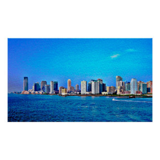 New York City Seascape Poster- The Big Apple Poster