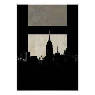 New York City Silhouette Pop Art Poster