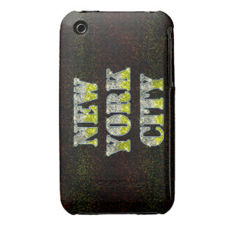 New York City Silver Gold Glitters iPhone 3 Case-Mate Case