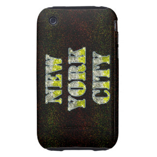New York City Silver Gold Glitters iPhone 3 Tough Case