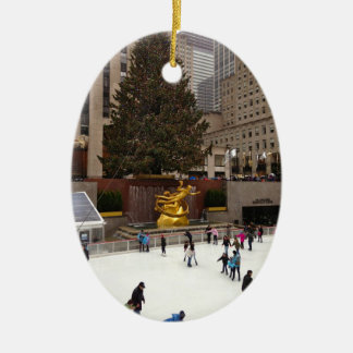 New York City Skating Rink Christmas Ornaments