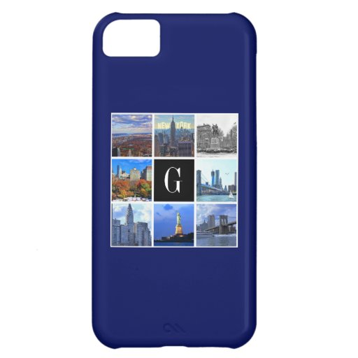 New York City Skyline 8 Image Photo Collage Case For iPhone 5C