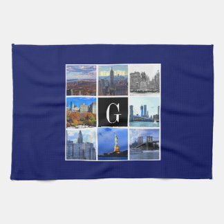 New York City Skyline 8 Image Photo Collage Tea Towel
