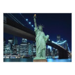 New York City skyline at Night Lights, Personalized Announcements
