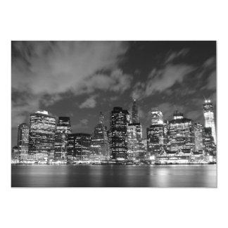 New York City skyline at Night Lights, Midtown Man 13 Cm X 18 Cm Invitation Card