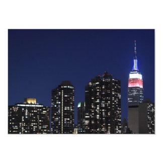 New York City skyline at Night Lights, Midtown Man Custom Invitation